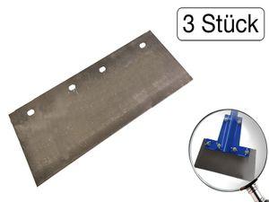 3 x Ersatzklinge  für Bodenschaber  300 mm aus Federstahl