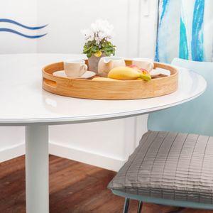Tischfolie Tischschutz PVC Helltransparent Tischdecke 2mm Rund 110cm Tischschutzfolie
