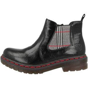 Rieker Damen Chelsea Boots Stiefeletten 76264, Größe:38 EU, Farbe:Schwarz