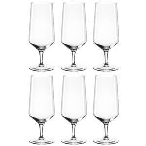 LEONARDO 069541 Puccini Bierglas 410 ml, Teqton-Glas (6 Stück)