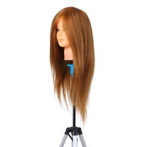 Friseur Ausbildung uebungskopf Schaufensterpuppe Kopf Echthaar Kosmetik Puppenkopf Puppenkopf uebungspuppe Kopf Blond