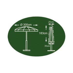 Abdeckhaube anthrazit für Sonnenschirm 183 x 25/35cm Schutzhülle Abdeckplane