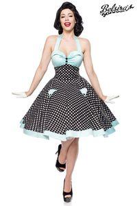 Vintage Retro Rockabilly Swing Kleid in schwarz/weiß/blau Größe XXL (2XL) = 44