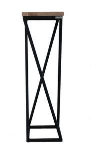 Dekoständer gedrehte Streben-Variante in schwarz von holz4home®