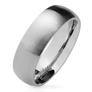 viva-adorno Gr. 55 (17,5 mm Ø) Damen & Herren Edelstahl Ring Partnerring Verlobungsring matt poliert silber RS56 6mm