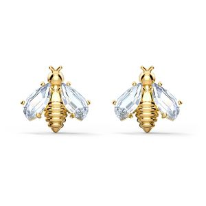 Swarovski Ohrringe 5518143/5538087 Eternal Flower Bee, weiß, vergoldet