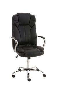 Bürostuhl CP519, Chefsessel Drehstuhl, US-Version, 150kg belastbar, Kunstleder  schwarz