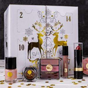 Beauty Würfel Adventskalender Für Frauen Mit 24 Make-Up Kosmetik Accessories
