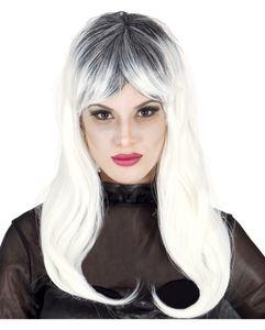 Schulterlange Zombie Perücke für Frauen - Halloween & Faschingsperücke