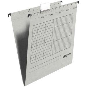 10 x FALKEN Hängemappe DIN A4 UniReg Grau 230 g/m² Kraftkarton