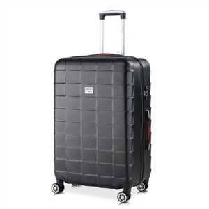 Monzana® Trolley Koffer | 42-116L Volumen | TSA Schloss | |Reisekoffer Hartschalenkoffer M L XL Rollen Case, Größe/Farbe:XL - Schwarz
