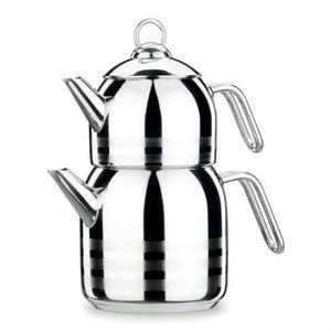 Korkmaz Astra Teekocher 2,9 Liter aus Edelstahl Wasserkessel Teekanne Rostfrei Teesieb Teebereiter Silber