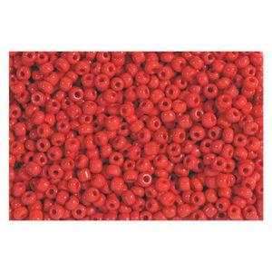 Rocailles rot opak 2,5mm Perlen - 30g (ca. 1.000 Stück)