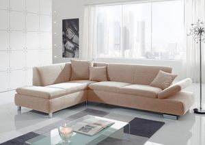 Max Winzer Terrence Ecksofa links mit Sofa 2,5-Sitzer rechts - Farbe: sand - Maße: 270 cm x 190 cm x 76 cm; 2920-264-1643726-MET