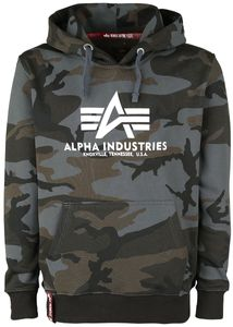 Alpha Industries Herren Hoodie Basic Logo Camo black camo L
