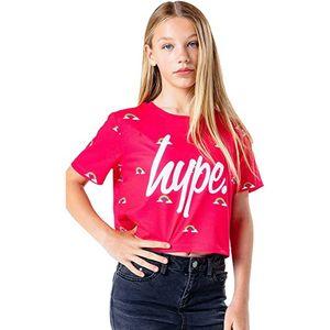 Hype Kinder Crop Top Disty Rainbow HY3053 (170) (Pink/Weiß)