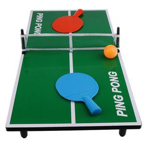 Mini Tischtennisplatte Tischtennis mit Schläger Netz Bälle Set