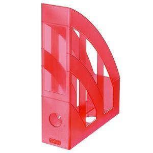 Herlitz Stehsammler / Plastik Stehordner / Farbe: transluzent rot