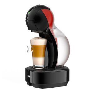 DeLonghi Kaffeekapselmaschine Dolce Gusto Colors, Schwarz mit Aufsätzen in Rot, Orange, Gelb