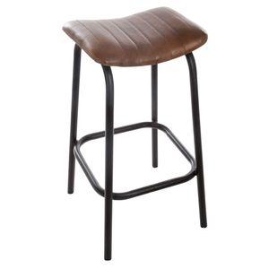 Braun Leder Barhocker, Hocker, Küchenstuhl, Barhocker, Ledersessel
