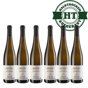 Weißwein Rheinhessen Scheurebe Weingut Becker halbtrocken ( 6 x 0,75 l)