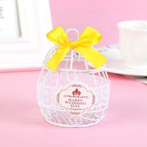Glücklicher Hochzeitstag Süßigkeits Schokoladen Bevorzugungs Kasten mit Weiß Gelb wie beschrieben