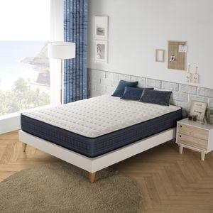 Imperial Memory Foam Matratze 140X200, 25 cm hoch mit 1 cm Memory Gel von 65 kg / m3 + Unabhängigkeit vom Bett + Festigkeit: Mittel + Extrem langlebig
