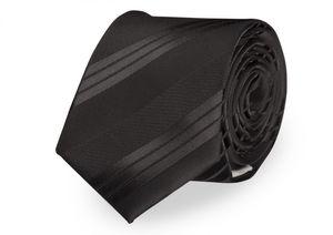 Schlips Krawatte Krawatten Binder 8cm schwarz gestreift uni Fabio Farini