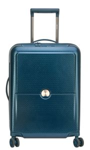 Delsey Turenne 4-Rollen Kabinen Trolley Koffer 2,1kg 55cm 00 1621 803, Farbe:Nachtblau