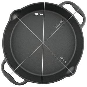 BBQ-Toro Gusseisen Grillpfanne Ø 30 cm - Servierpfanne mit Ausgießer