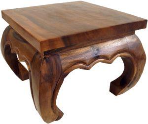 Opiumtisch, Teetisch, Blumenbank aus Massivholz -braun 35*35 cm, Kaffeetische & Bodentische