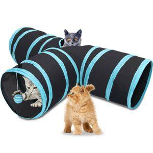 3-Wege Katzentunnel Katzentunnel Katzenspielzeug Katze Spielzeug Spieltunnel Faltbar Tunnel Haustier Spiel Tunnel