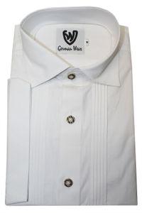 Trachtenhemd Businesshemd 2x5 Biesen Hemd Halbarm Baumwolle , Größe:M