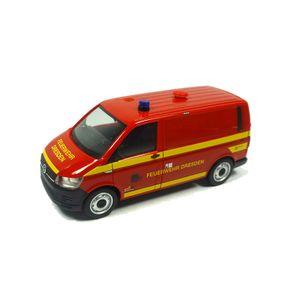 """Herpa 095433 VW T6 Kasten """"Feuerwehr Dresden"""" rot Maßstab 1:87"""