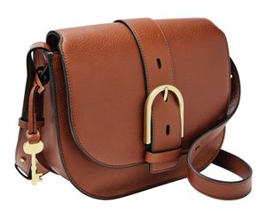 FOSSIL Wiley Saddle Bag Brown