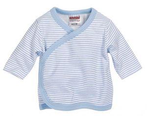 Schnizler Flügelhemd Langarm Ringel, in weiß/bleu, Größe 44