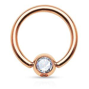 viva-adorno 1,2x6x3mm Universal Piercing Ring BCR Kristall Lippenring Klemmring Septumpiercing Brustpiercing Chirurgenstahl Z462,BCR