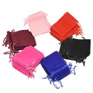 Schmuckbeutel: Geschenkverpackung / Samtbeutel für Schmuck, Farbe:rosa