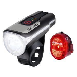 SIGMA SPORT LED Beleuchtungsset Aura 80 / Nugget II USB schwarz -
