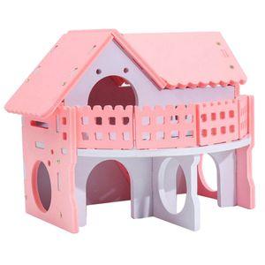 Hamsterhaus Nagerhaus Kleintierhaus für Hamster, Maus, Ratte, Eichhörnchen, Meerschweinchenhaus, Chinchilla