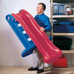 Little Tikes Easy Store Large Slide Primary Rutsche - Farbe: Blau/Rot - Rutschenlänge ca. 150 cm - Max. Benutzergewicht: ca. 34 kg