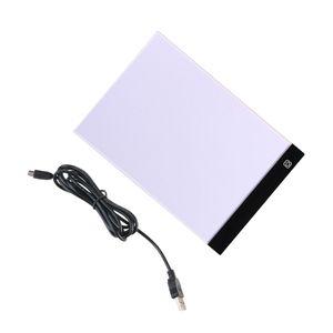 A4 Leuchttisch LED Copy Board Drei Gang Verstellbar Artcraft Tracing Light Pad Box Art Design Schablone Zeichnung Thin Pad Copy Leuchtkasten mit USB-Kabel
