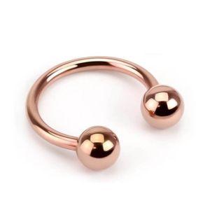 viva-adorno 1,2 x 8 x 3mm Hufeisen Piercing Edelstahl rosegold Lippenpiercing Augenbrauenpiercing Z419