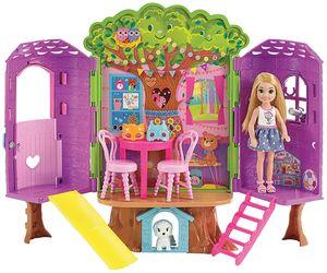 Barbie Chelsea Baumhaus Spielset und Puppe