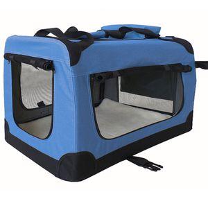 Faltbare Hundebox Transporttasche Transportbox Auto für Katze Hunde Kaninchen Große Kleine Box Bag Bed Klein Auto Transport Decke Größe XXL Blau Petigi