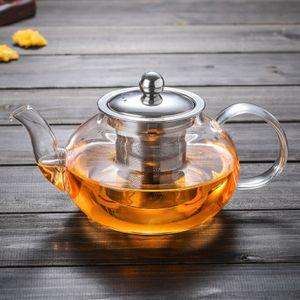 Sunnyme 1000ml Teekanne aus Glas Borosilikat Glas Teebereiter mit Abnehmbare Edelstahl-Sieb Rostfrei Hitzebeständig