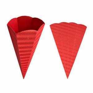 Creleo - Geschwister Schultüten 5 Stück rot aus 3D Wellpappe 41cm - Zuckertüte als Rohling zum basteln, bemalen und bekleben
