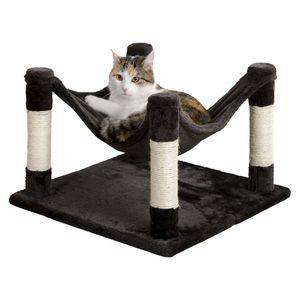 Katzenhängematte Samira 49x49, anthrazit Katze Hängematte Entspannung Relaxen