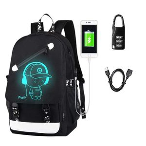 USB Schulrucksack Schulranzen Schultasche Sports Rucksack Freizeitrucksack Daypacks Backpack mit dem Schloss für Mädchen Jungen & Kinder Damen Herren Jugendliche (Schwarz)