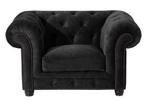 Max Winzer Orleans Sessel - Farbe: schwarz - Maße: 135 cm x 100 cm x 77 cm; 2911-1100-2044140-F07